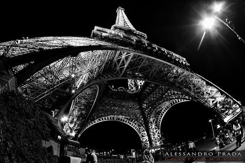 fisheye eiffel photo