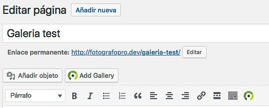 Insertar NextGEN Gallery en WordPress