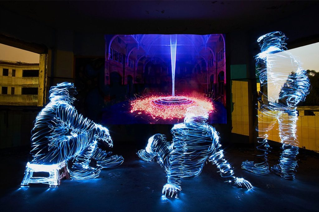 Light Art Museum Jan Leonardo Wollet