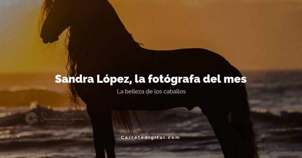 Sandra López la fotógrafa del mes