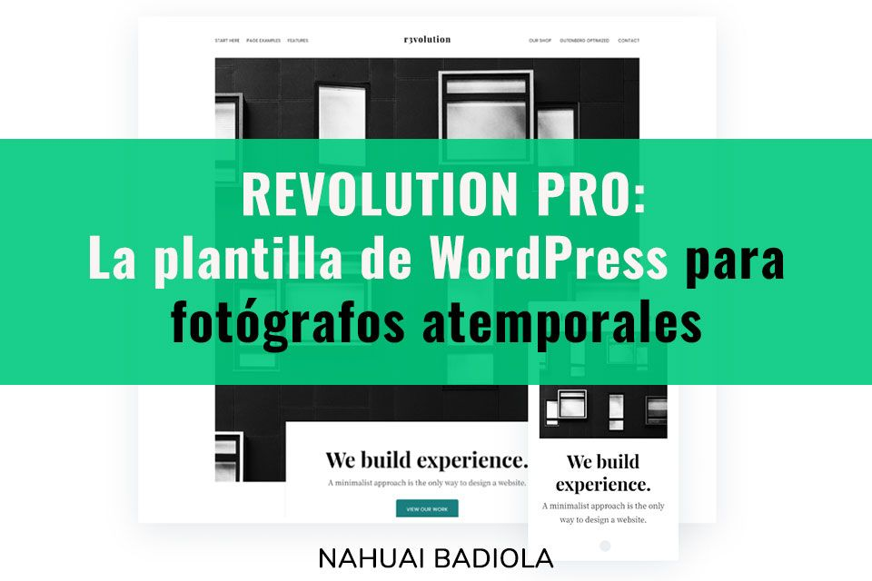 plantillas wordpress fotografos revolution pro