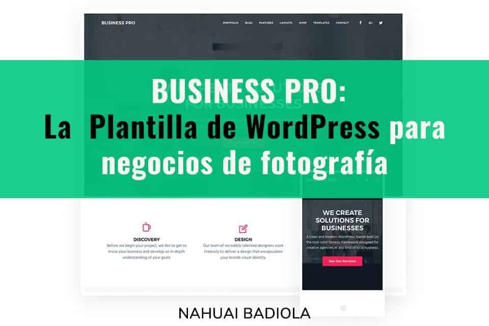 plantillas WordPress fotógrafos business pro